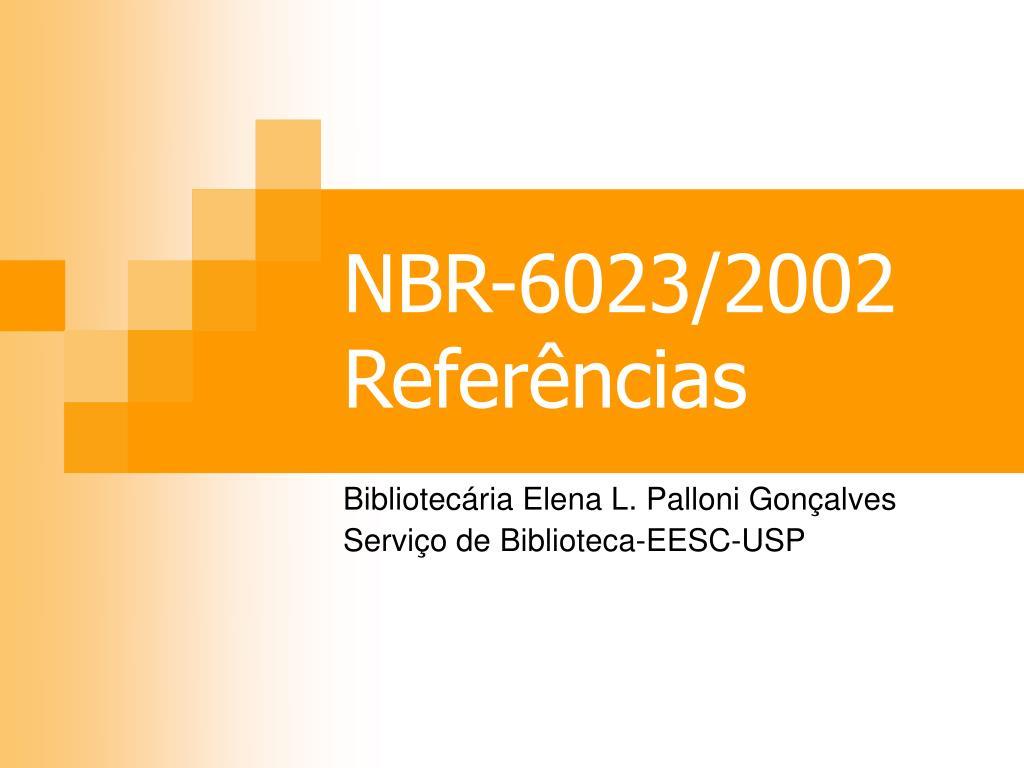 nbr 6023 2002 refer ncias l.