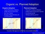 organic vs planned adoption