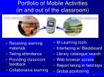 portfolio of mobile activities in and out of the classroom