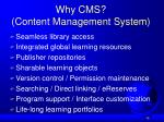 why cms content management system