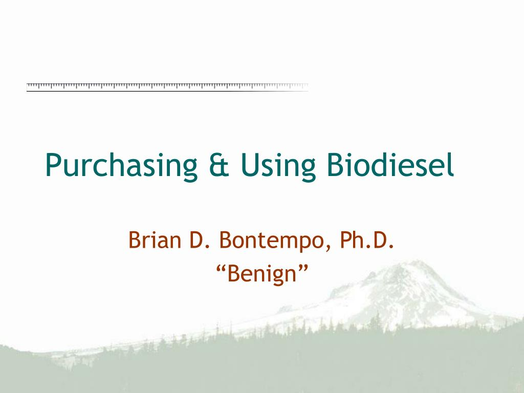 purchasing using biodiesel l.