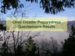clinic disaster preparedness questionnaire results