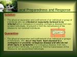 local preparedness and response37
