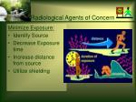 radiological agents of concern30