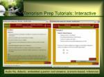 terrorism prep tutorials interactive