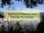 terrorism preparedness training workshops