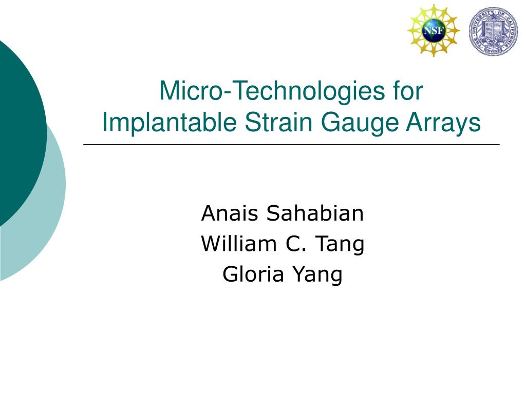 micro technologies for implantable strain gauge arrays l.