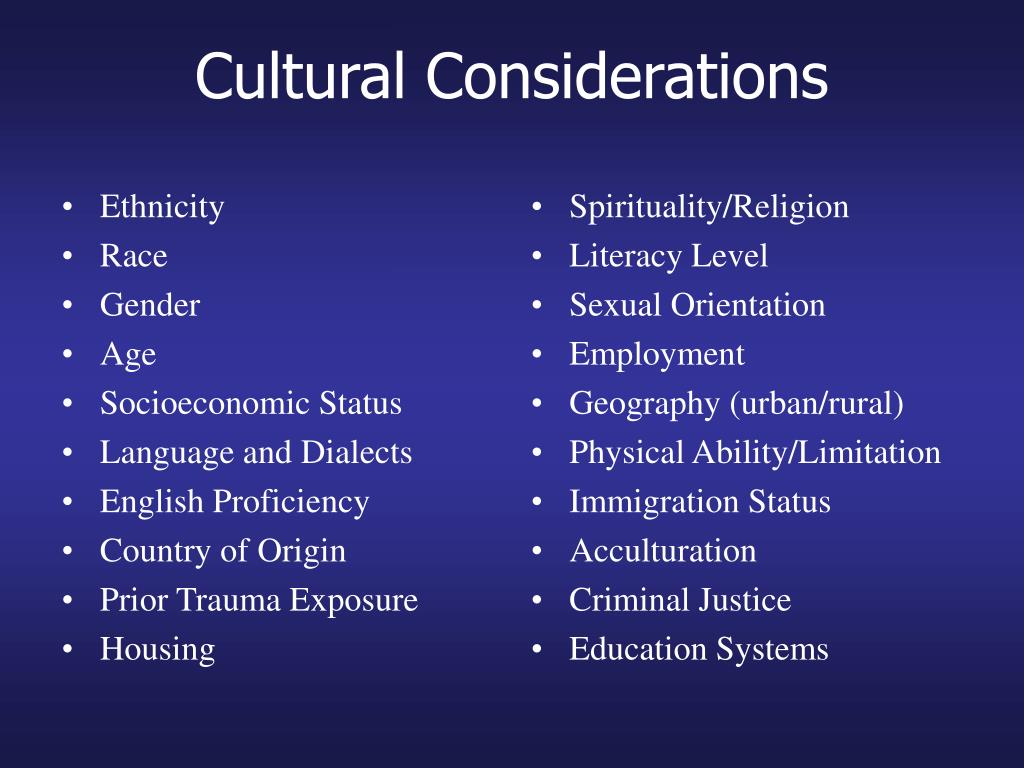 cultural considerations in criminal justice