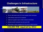 challenges in infrastructure
