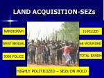 land acquisition sezs