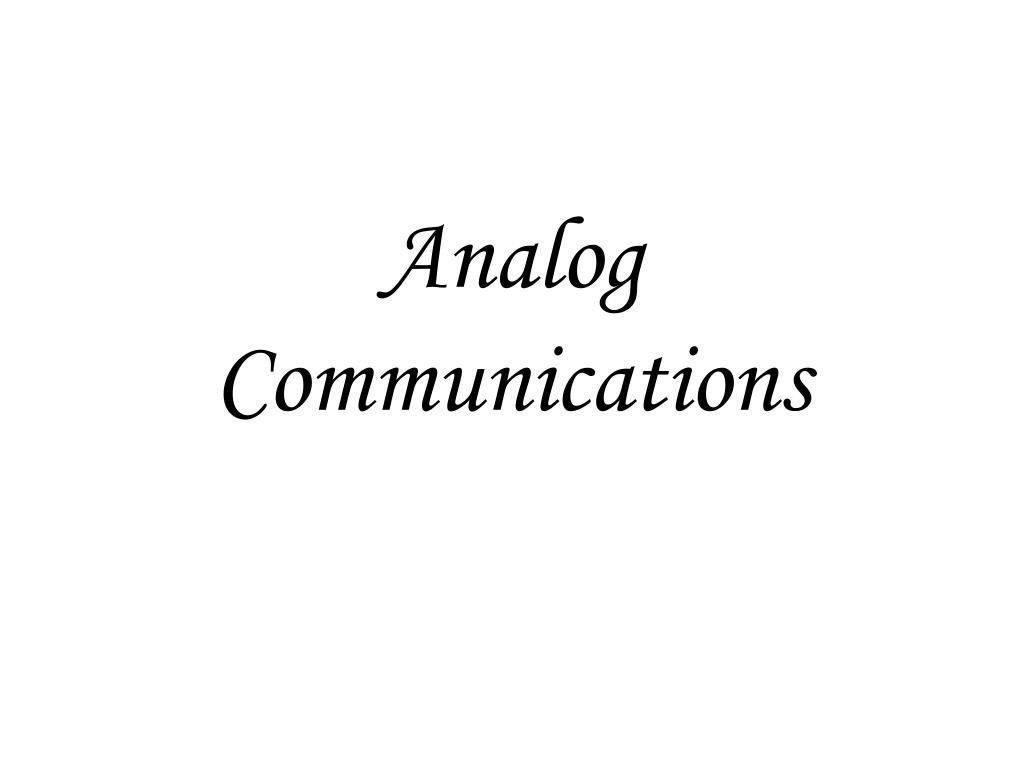 analog communications l.