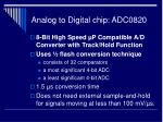 analog to digital chip adc0820