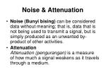 noise attenuation