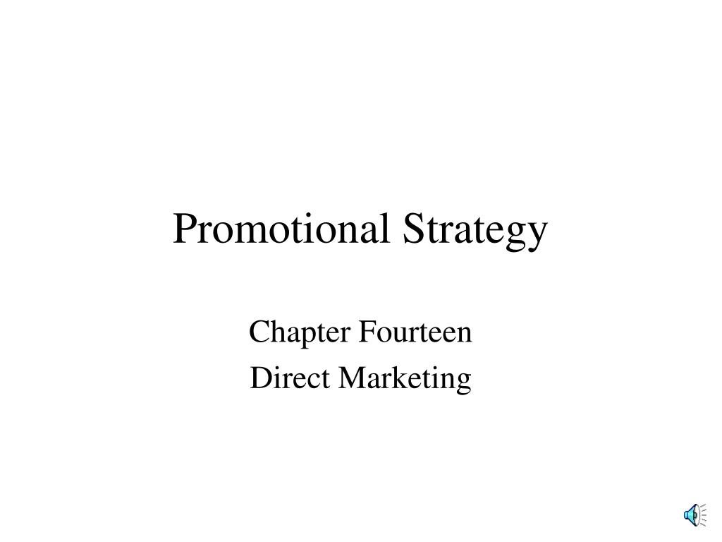 promotional strategy l.