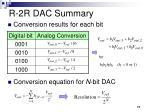 r 2r dac summary