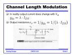 channel length modulation