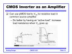 cmos inverter as an amplifier