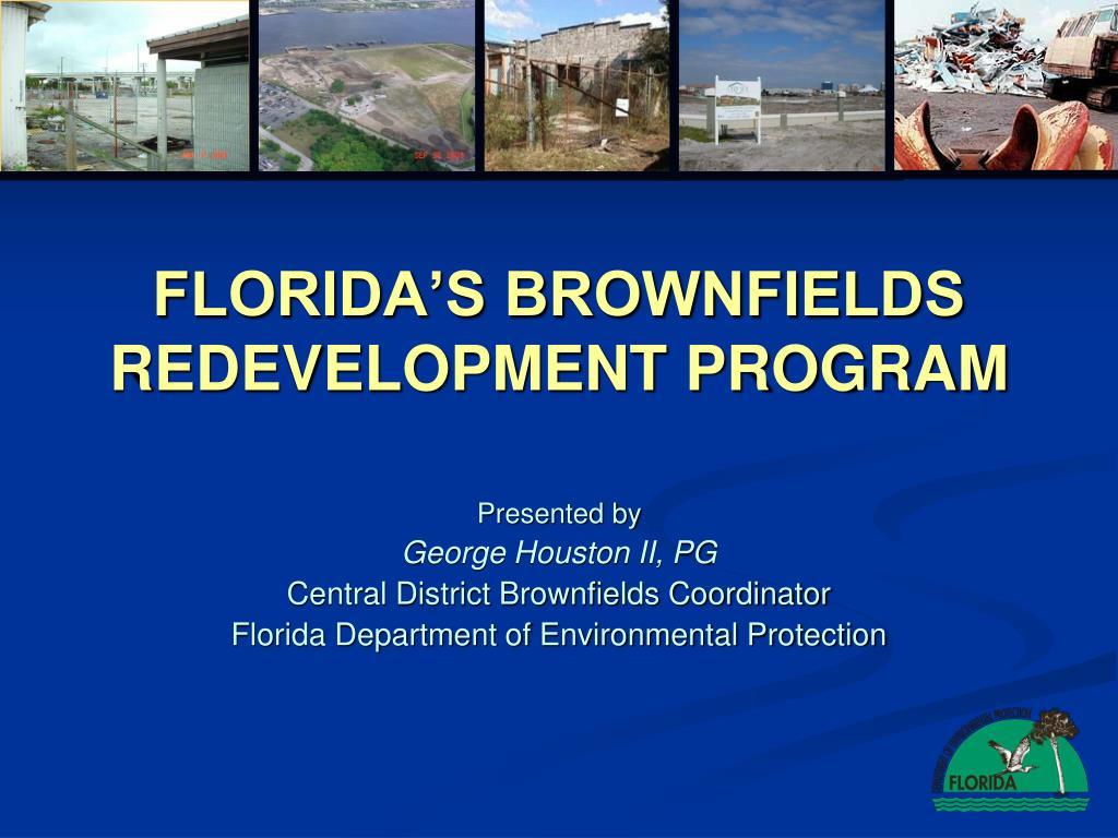 florida s brownfields redevelopment program l.