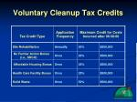 voluntary cleanup tax credits