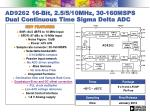 ad9262 16 bit 2 5 5 10mhz 30 160msps dual continuous time sigma delta adc
