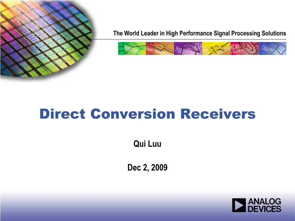 direct conversion receivers l.