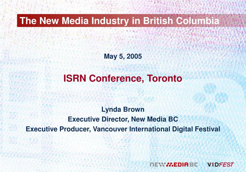 the new media industry in british columbia l.
