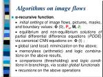algorithms on image flows