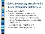 make a computing machine with cnn elementary instructions