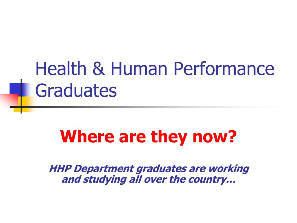 health human performance graduates l.