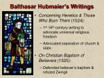 balthasar hubmaier s writings22