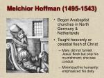 melchior hoffman 1495 1543