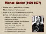michael sattler 1490 1527