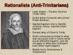 rationalists anti trinitarians40