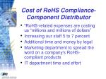 cost of rohs compliance component distributor