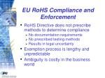 eu rohs compliance and enforcement