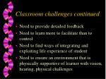 classroom challenges continued35