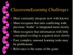 classroom learning challenges