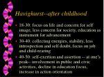 havighurst after childhood