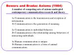 bowers and bradac axioms 1984