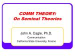 comm theory on seminal theories