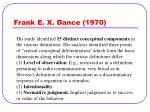 frank e x dance 1970