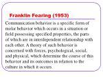 franklin fearing 1953