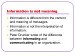 information is not meaning