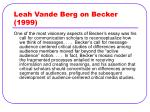 leah vande berg on becker 1999