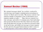 samuel becker 1968