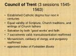 council of trent 3 sessions 1545 1563