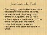 justification by faith