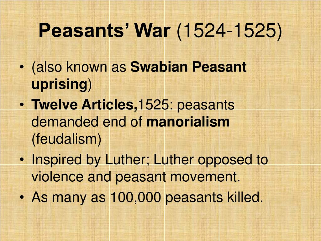 an analysis of luther and the peasants war Works of martin luther - the literature on the peasants' war and luther's relation to it is very extensive, though comparatively little of it is in english.