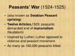 peasants war 1524 1525