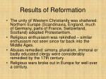 results of reformation